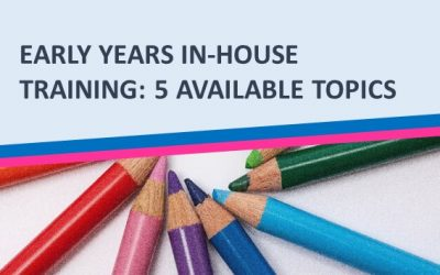 Early Years in-house training for a PVI or a school setting